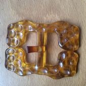 Vintage Bakelite Buckle - Applejuice Colour - 1930s - 1940s Art Deco